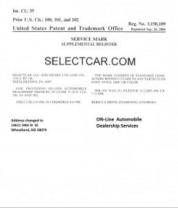 SelectCar.com Trademark 3,150,109